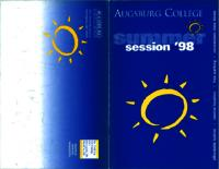 Augsburg College Summer Catalog, 1998
