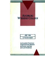 Augsburg Weekend College Catalog Supplement, 1993-1994