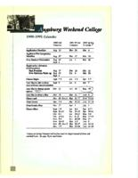 Augsburg Weekend College Catalog, 1990-1991