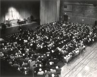 SI Melby Hall, gymnasium, facing southwest, circa 1965.