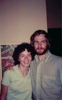 Sara Pallmeyer and Jack Nelson Pallmeyer at the Center for Global Education and Experience (CGEE) office in Managua, Nicaragua, 1984
