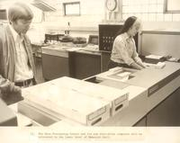 Science Hall, data processing center, circa 1975.