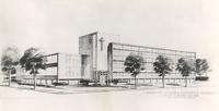 Science Hall, architectural drawing circa 1948.