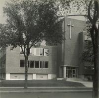 Science Hall, west facade, facing southeast, circa 1955.