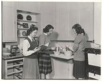 Morton Hall, interior, home economics department, circa 1945.