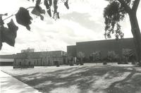 Ice Arena and Si Melby Hall, north facades, facing south, circa 1975.