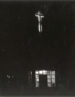 Science Hall, view of the cross, facing west, undated.