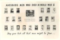 Augsburg Men Who Died In World War II, circa 1945.