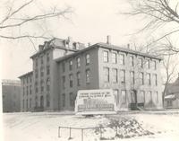 Old Main (1872-1948), northwest corner, facing southeast, circa 1948.