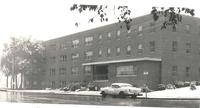Gerda Mortensen Hall, east facade, facing southwest, circa 1957.