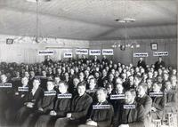Class in Old Main (1872-1948) at Augsburg Seminary, circa 1898