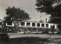 Gymnasium, construction, facing southeast, 1947.
