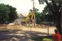 Campus House: 2124 South 7th Street, demolition, facing south, 1996.