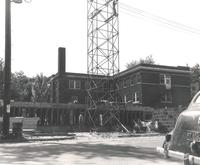 Gerda Mortensen Hall, construction, facing northwest, 1955-1956.