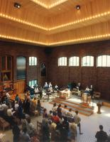 Foss Lobeck Miles Center, Hoversten Chapel, facing northeast, circa 1995.