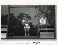 Christensen Center, second floor window, 1971.