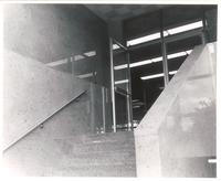 Sverdrup Hall, south entryway, 1954.