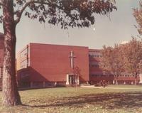 Science Hall, east facade, facing northwest, circa 1965.