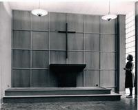 Altar in Science Building at Augsburg College, circa 1950