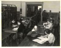 Old Main (1902-) Library, interior, 1950