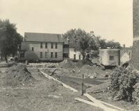 Gymnasium, construction, facing north, 1947.