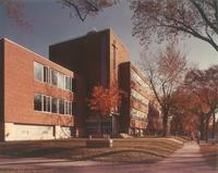Science Hall, west facade, facing southeast, circa 1960.