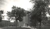 Science Hall, northwest corner facing southeast, circa 1950.