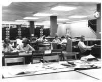 Sverdrup Library, references section, circa 1960.