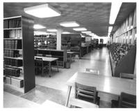 Sverdrup Library, periodicals section, circa 1960.