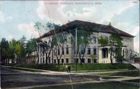 Postcard of Old Main (1902-) at Augsburg Seminary, 1907.