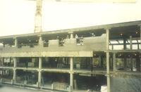 Lindell Library, construction, facing northwest, 1996.