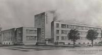 Science Hall, architectural drawing, circa 1947.