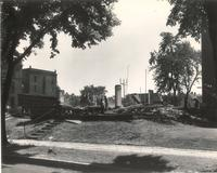 Old Main (1872-1948), demolition, facing southeast, 1949.