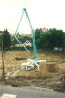 Lindell Library, excavation, facing north, 1996.