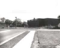 Si Melby Hall, northeast corner, facing southwest, circa 1980.