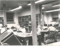 Old Main (1902-), library, circa 1950.