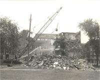 Gerda Mortensen Hall, demolition, south side facing north, 1972.