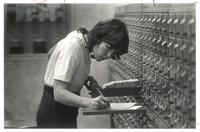 Sverdrup Library, card catalog, 1960s.