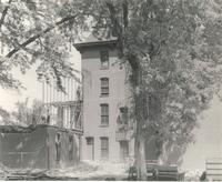 Old Main (1872-1948), demolition of west wing, facing northeast, 1948.