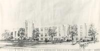 Science Hall, architectural drawing, circa 1942.