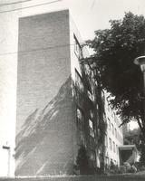 Gerda Mortensen Hall, south side of east wing, facing north, circa 1957.