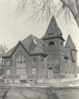 Music Building, west facade, facing northeast, circa 1960.