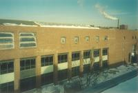 Lindell Library, construction, facing northeast, 1997.