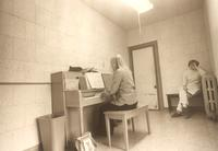East Hall, practice room, circa 1975.