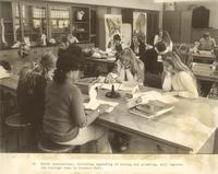 Science Hall, biology laboratory, circa 1980.