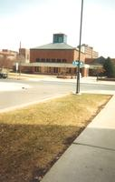 Foss Lobeck Miles Center, west facade, facing northeast, circa 1988.