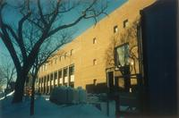 Lindell Library, construction, facing northwest, 1997.