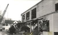 Gymnasium, demolition of west facade, facing northeast, 1960.