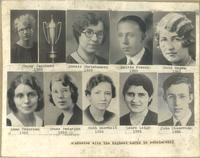 Graduates with the highest marks in scholarship, circa 1936.