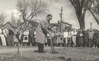 Si Melby Hall, groundbreaking ceremony, 1960.
